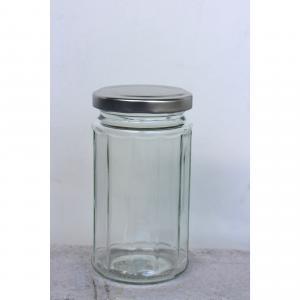 Glasburk kantig med lock 2,5dl H11,5cm