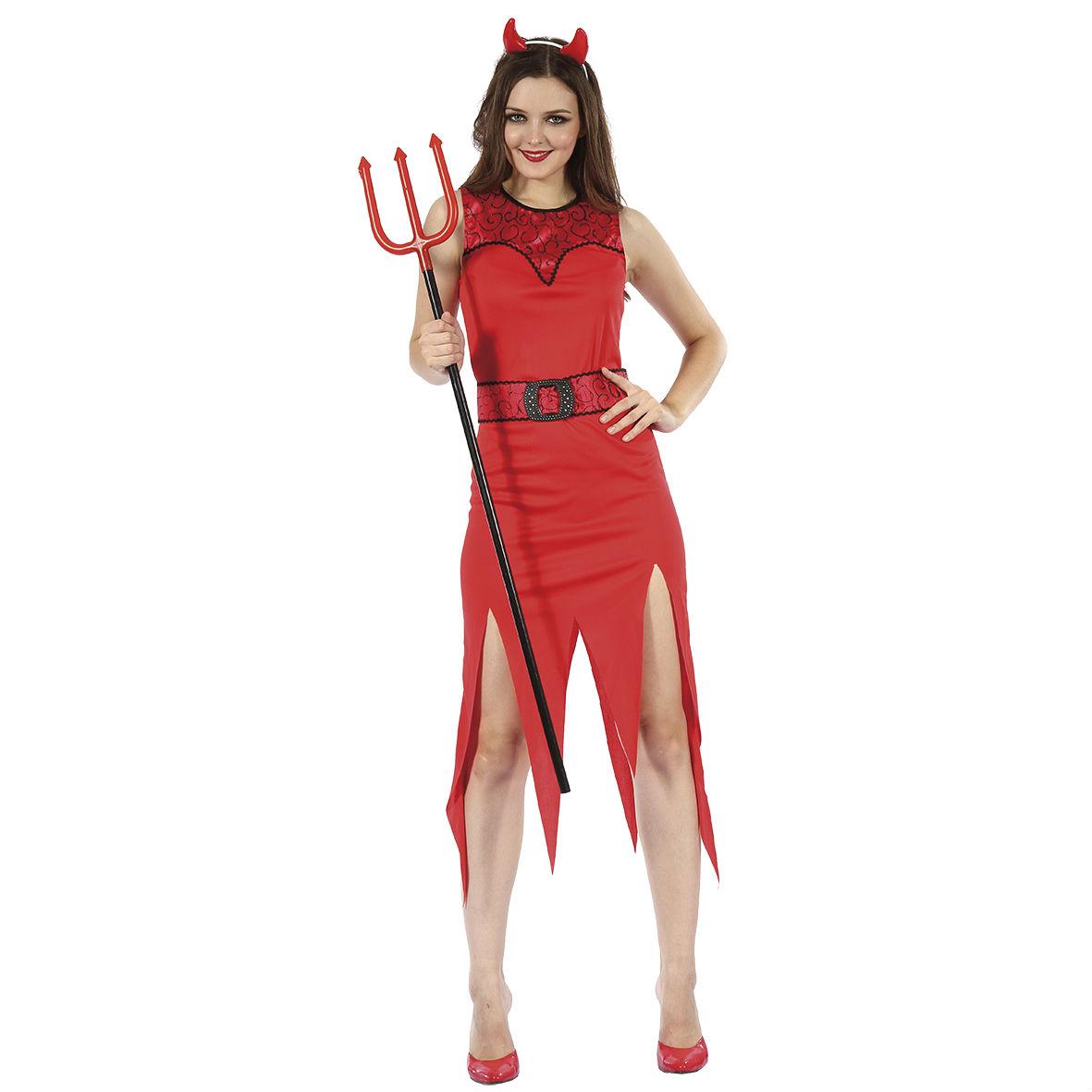 Djävulsdräkt kvinna Halloween