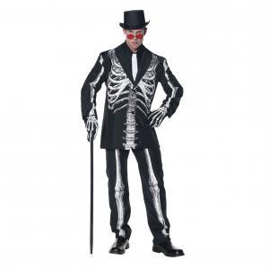 Maskeraddräkt Skelett Kostym