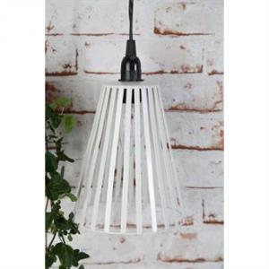 Fönsterlampa Kon vit stripe