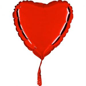 Ballong folie hjärta 45cm