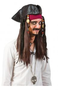 "Pirathatt "" jack sparrow"" med läderlook."