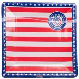 Tallrik papp USA 25cm 8-pack