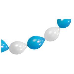Oktoberfest Ballong Girlang 4vita + 4blå
