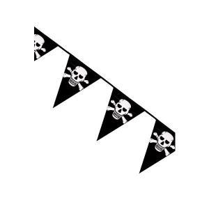 Flaggspel Pirat med döskalle