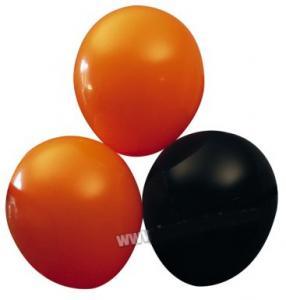 Ballonger svart / orange 10pack