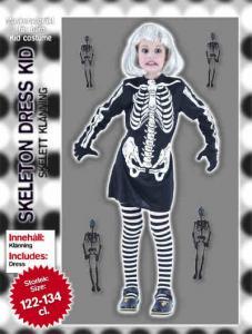 Dräkt Skelett barn flicka