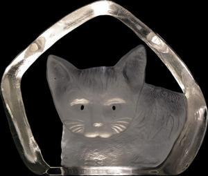 Designat konstglas Katt svarta ögon