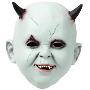 Latexmask Bebis Med Horn