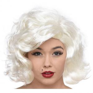 Peruk Kort Platina Blont