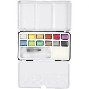 Akvarellfärg 12pack Metallic