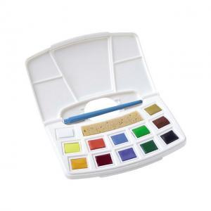Akvarellfärg box 12p inkl pensel