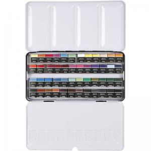 Akvarellfärg 48st mixade färger