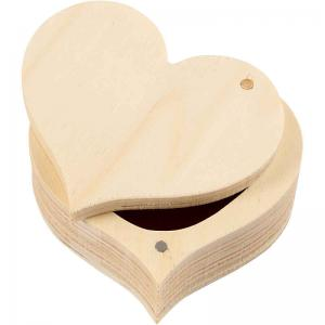 Ask Hjärta trä 9x4cm