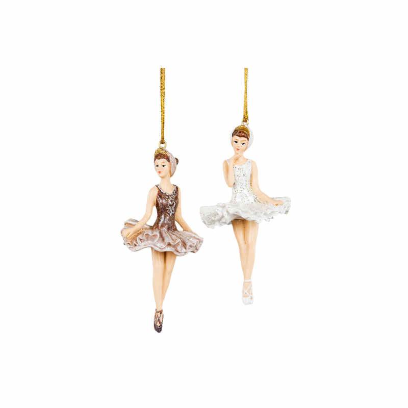 Ballerina hängande vit eller Nougat