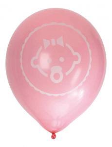 Ballong Baby Rosa/vit