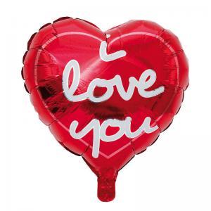 Folieballong Hjärta med text