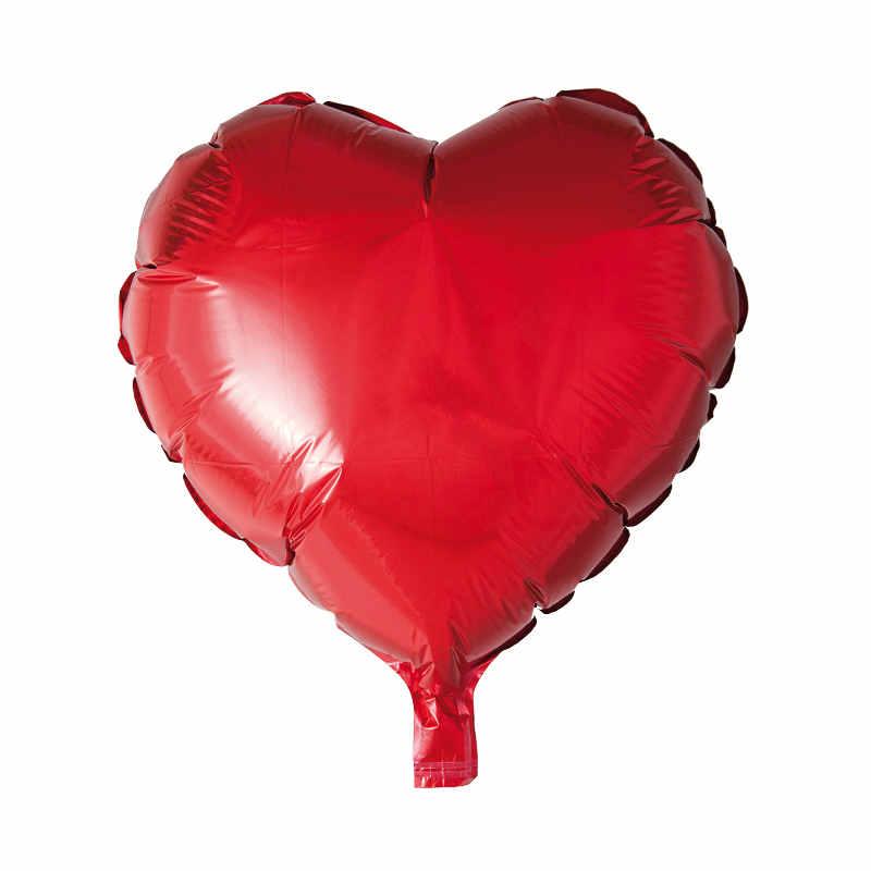 Ballong folie hjärta röd