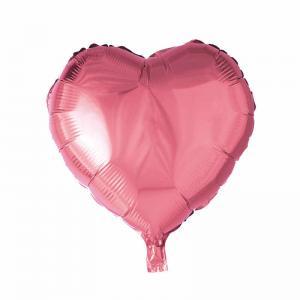 Ballong folie hjärta rosa