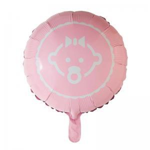 Ballong folie baby rosa