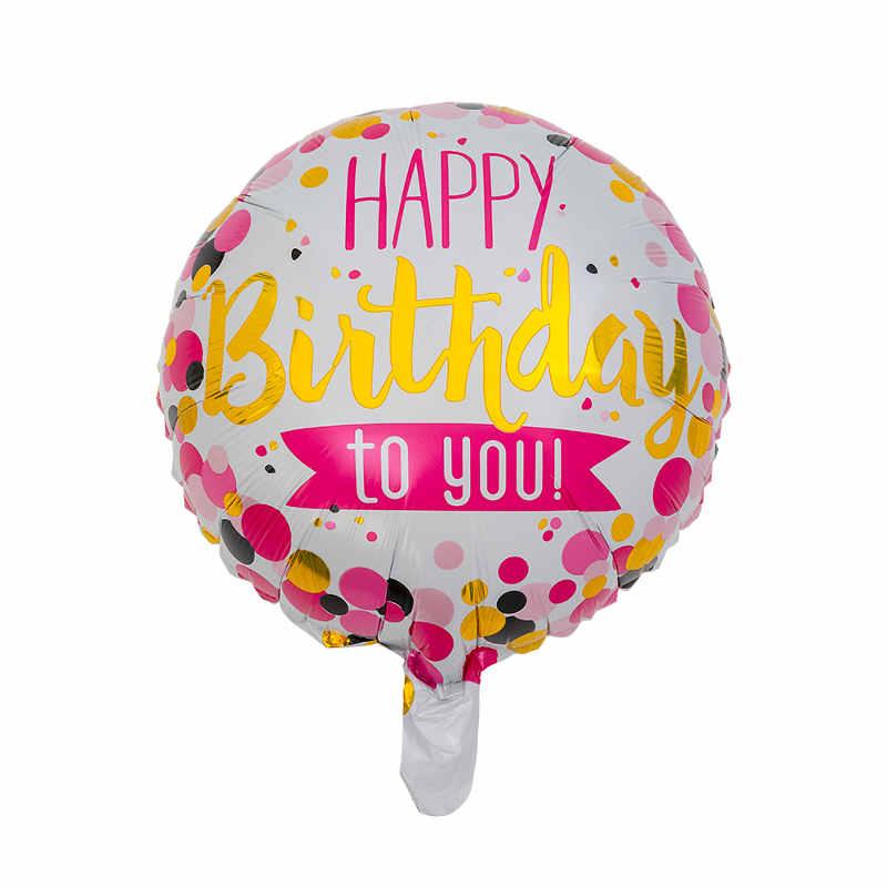 Folieballong Rosa Happy Birthday