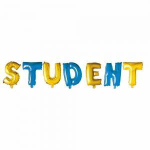 Ballong folie text student 40cm