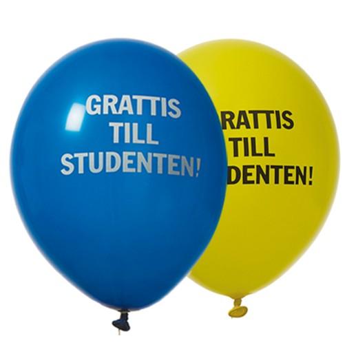 Ballong Gul och Blå 8pack med text
