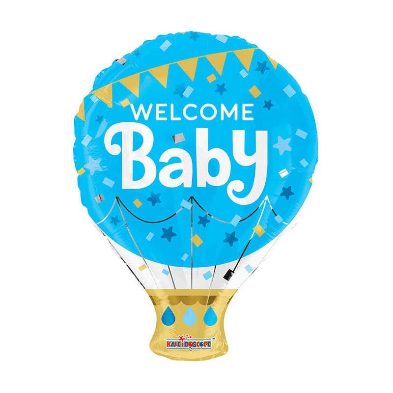 Ballong folie Baby Shower ljusblå
