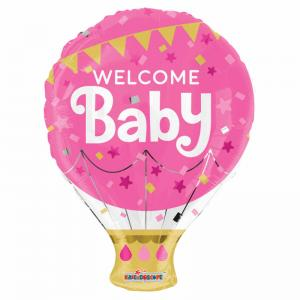 Ballong folie Baby Shower rosa