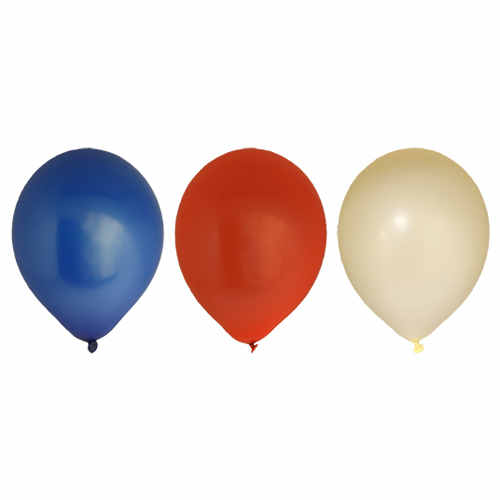Ballong 10-p Röd/Blå/Vit