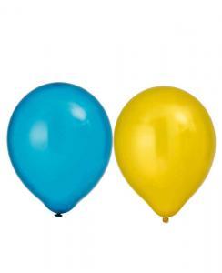 Ballonger metallic Gul/Blå 8pack