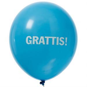 "Ballonger ""Grattis"" Olika Färger"