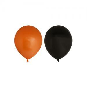 Ballonger svarta och orange 10p