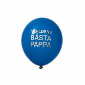 """Ballonger """"världens bästa pappa"""" 8-p blå"""