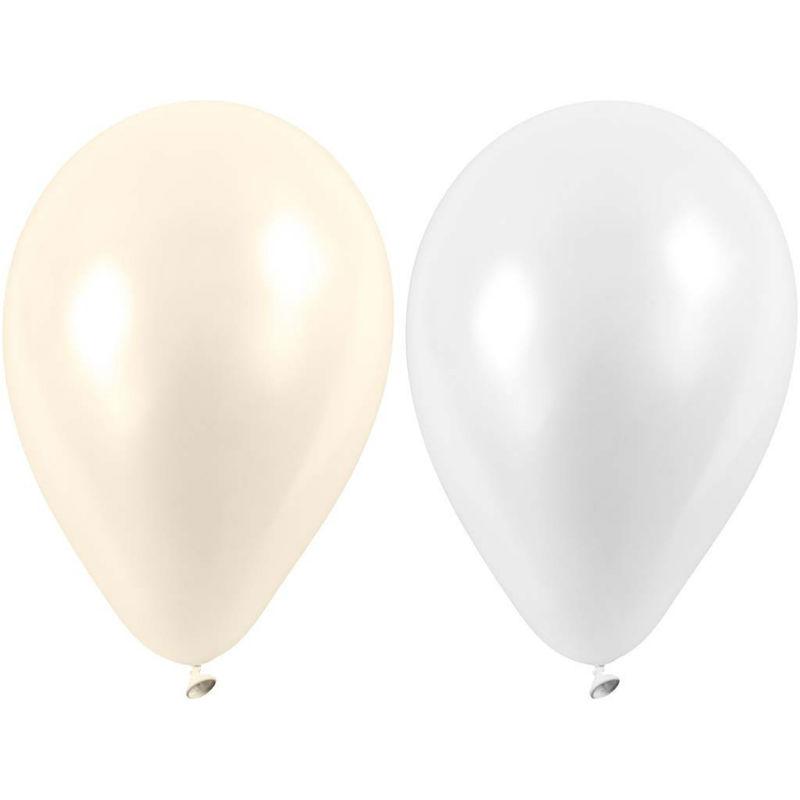 Ballonger 10-p vit/pärlemo Bröllop