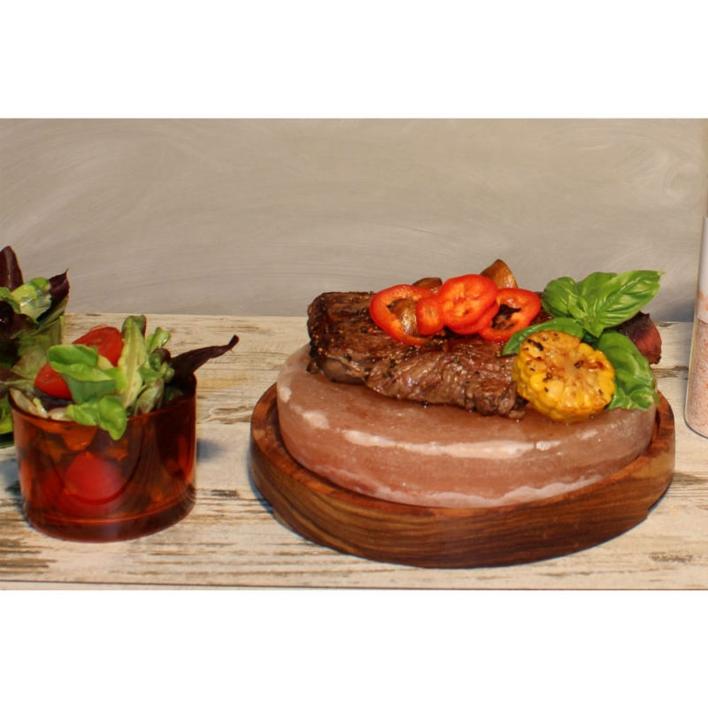 BBQ Saltsten rund med underlägg