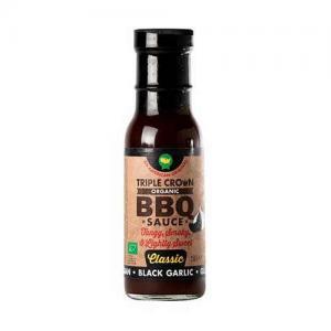 Triple BBQ-sås Black Garlic EKO 250g Glutenfri Vegan