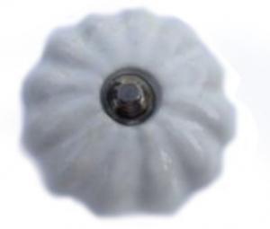 Beslag Knopp vit-silver