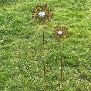 Blomma på pinne rost H100cm