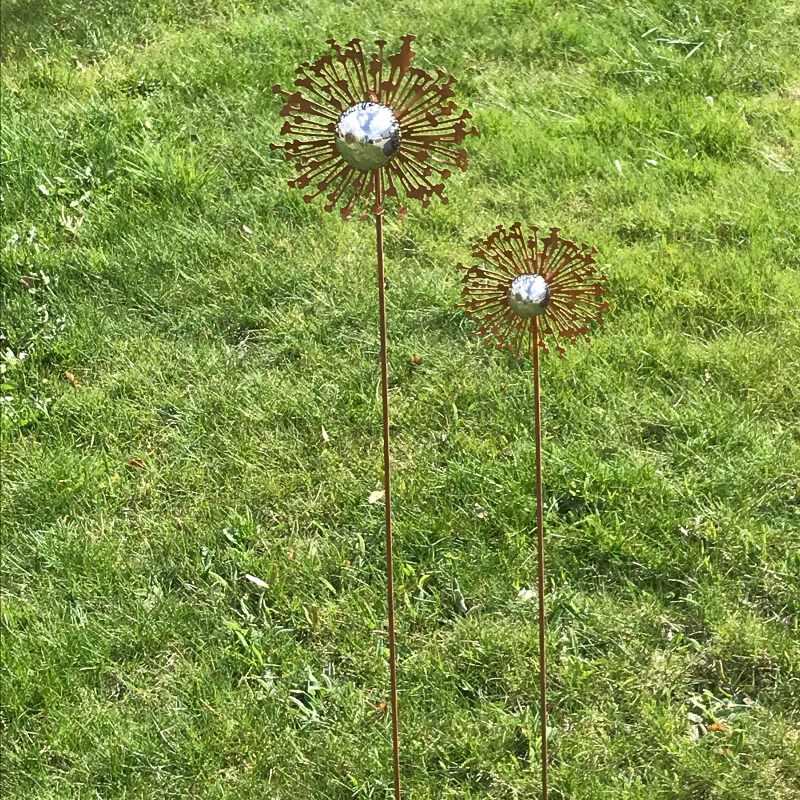 Blomma på pinne rost H80cm