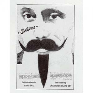 Bohéme Mustasch och skägg