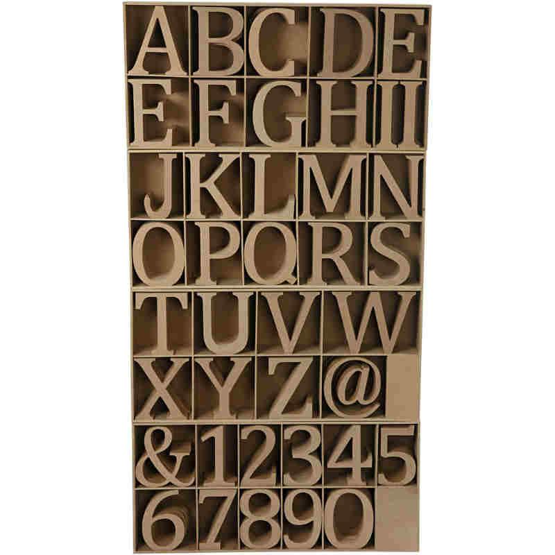 Bokstäver och siffror 13cm i trä
