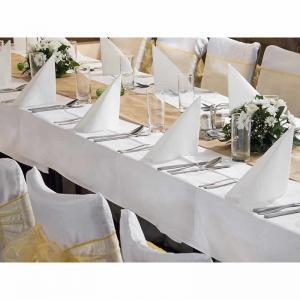 Bordsduk polyester vit 180x300cm