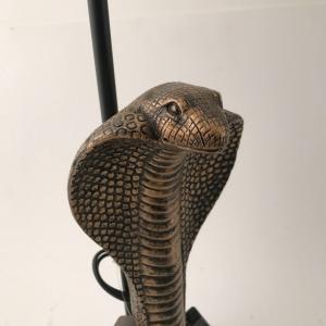 """Bordslampa """"Kobra"""" Antikmässing diam18 H53"""