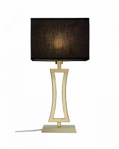 Bordslampa krom/mässing 480cm inkl. skärm