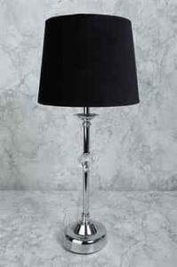"""Bordslampa krom """"kula"""" 46cm"""