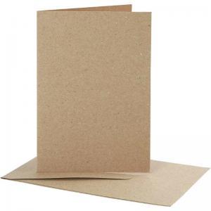 Kort och kuvert 10,5x15, 11,5x16,5 naturell