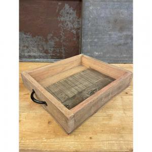 Bricka med handtag recycled L40cm