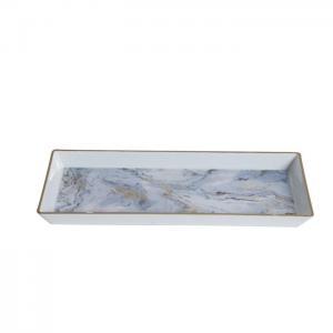 Bricka plast Grå marmor utseende 27x12