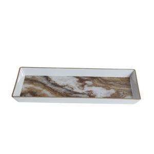 Bricka plast marmor utseende 27x12